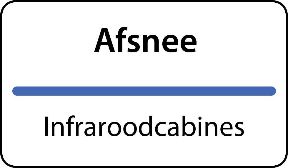 infraroodcabines Afsnee
